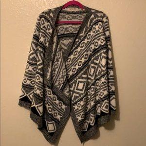 Black and white cardigan sweater